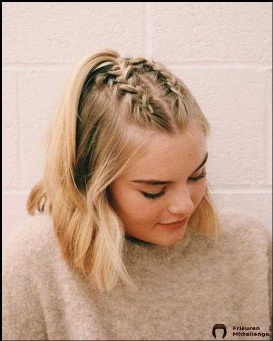30 Beste French Braid Short Hair Ideas 2019 Schone Frisuren Mittellange Haare Frisuren Haarschnitte Mittellange Haare Frisuren Einfach