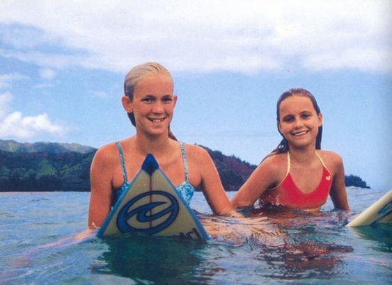 Bethany Hamilton et sa meilleure amie Alana Blanchard, quelques semaines avant l'attaque de requin.