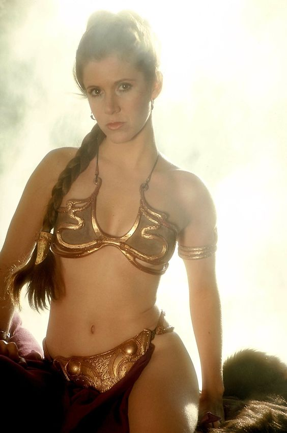 Princess Leia Organa (Carrie Fischer) in Jabba the Hut slave outfit - Star Wars V (costume designer John Mollo)