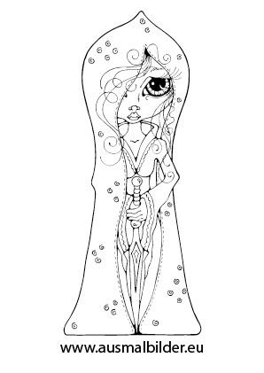 Ausmalbild Süsse Prinzessin
