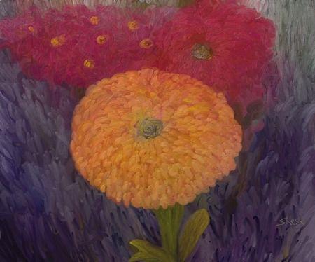 Flowers in my Garden by Shesh Tantry in DigitalPaintings on Art by Shesh Store