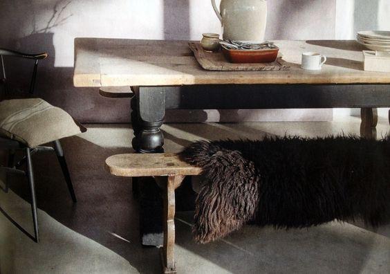 table de ferme d cap e et repeinte en noir mat home s jour pinterest tables. Black Bedroom Furniture Sets. Home Design Ideas