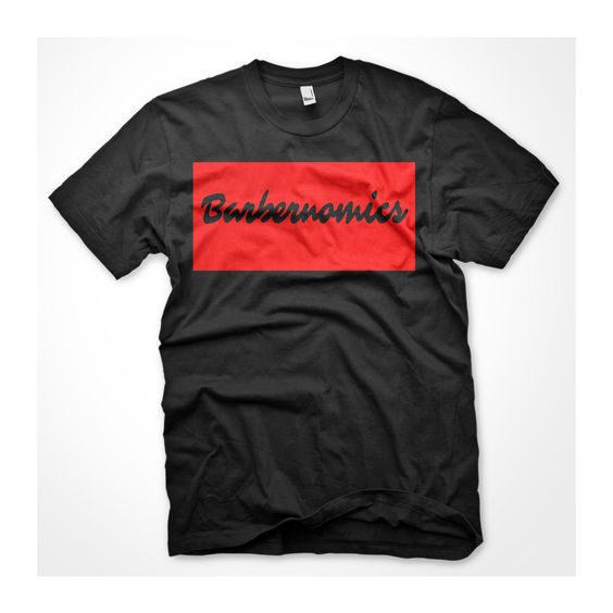 Barbernomics T-Shirt (Black/Red)