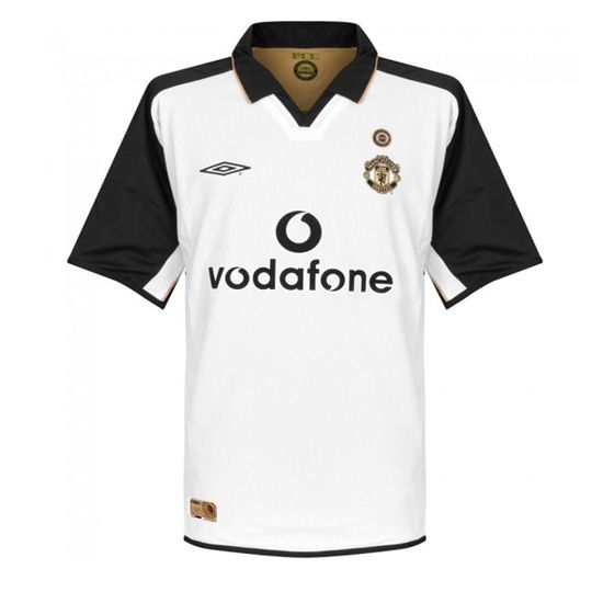 Https Www Soccerjerseyshop Net Manchester United C 26 28 45 Manchester United 0102 Away White Centenary Socc Soccer Jersey Retro Football Shirts Retro Shirts