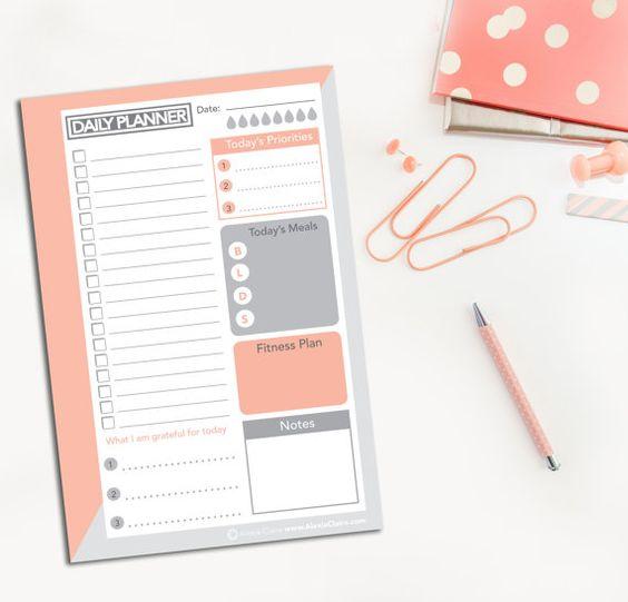 Tägliche Planner-Printable Do-Liste Filofax von AlexiaClaire