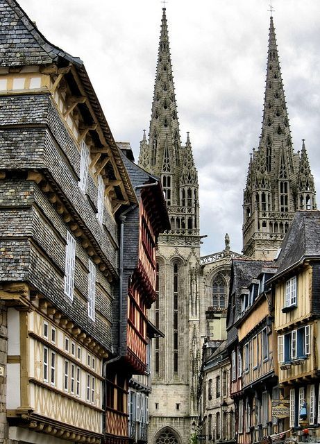 St-Corentin Cathedral , Bretagne,...
