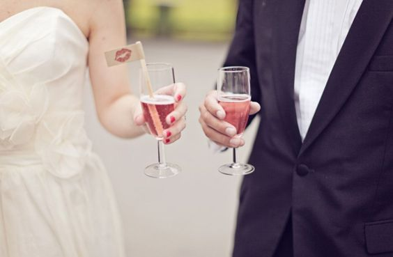 Pink champagne, even grooms love it on their #wedding day. What do you think?