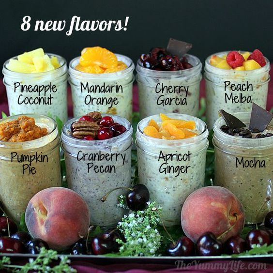 Diy Refrigeratorovernight No Cook Oatmeal Recipes From The Yummy Life Now With Fourteen Flavors - Click for More...