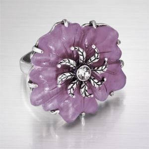 : Martina Ring, Frosted Acrylic, Flower Rings, Latasia 2013, Martina Crystal, Latasia Business, Martina Flower