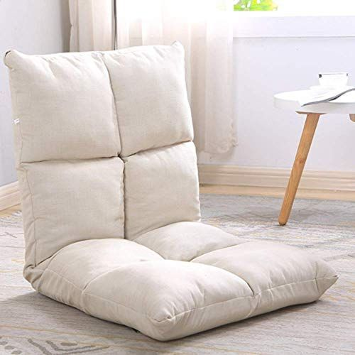 New H&U Folding Padded Sofa Chair Adjustable 6-Position,Tatami Portable Floor Chair Video-Gaming Reading Meditation Chair Back Support-White 110x52cm(43x20inch)… | Small Sofa, Sofa Colors, Sofa Chair