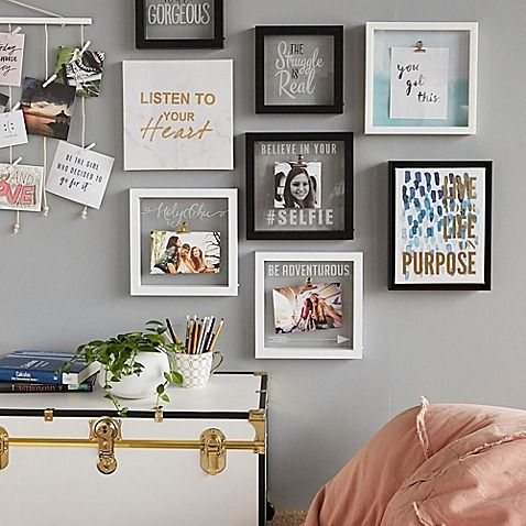 Collage Goals Put Your Unique Touch On Your Dorm Room Decor With Wall Art That Matches Your Style Decor Gallery Wall Bedroom Dining Room Decor