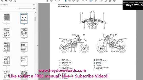 Yamaha Yz250f Service Manual Repair 2013 Yz 250f Pdf Download Manual Yz250f Pdf Download