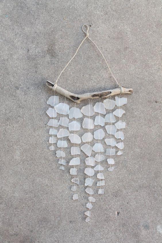 Sea Glass & Driftwood Mobile