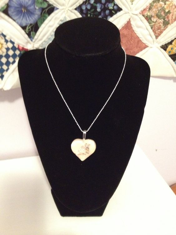 Valentine Sale!  Glass Heart Bee Necklace. $8.95, via Etsy.