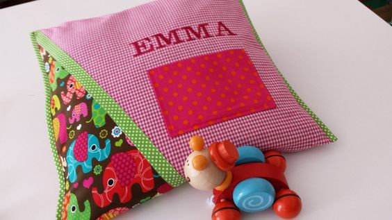 """Namenskissen/ Kuschelkissen """"EMMA"""" von XBergDesign auf DaWanda.com"""