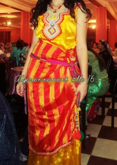 Robe kabyle jaune