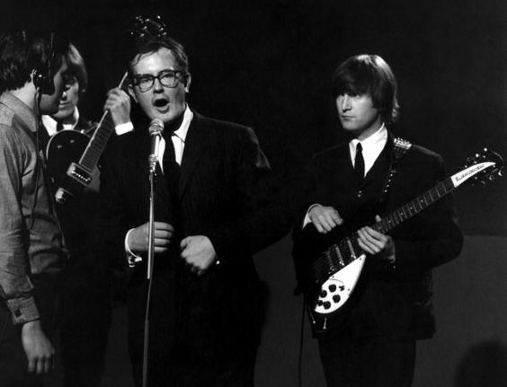 Jack Good introducing The Beatles on 'Shindig' at Granville Studio, 3 October 1964. (Photo by David Redfern/Redferns)
