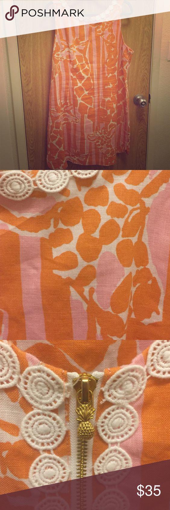 Lilly Pulitzer giraffe dress Orange and pink giraffe print Lilly Pulitzer Dress! Lilly Pulitzer for Target Dresses