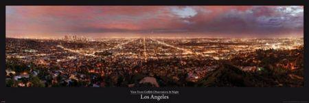 Los Angeles at night - plakat - 158x53 cm  Gdzie kupić? www.eplakaty.pl