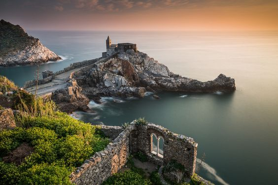 The Golden Hour in Porto Venere by Vaidotas Mišeikis