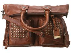 Brooke Fold Over from Frye. #bags #studded #zappos