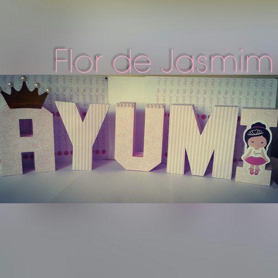 Letra 3D Festa Princesa Bailarina