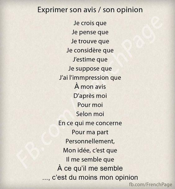 Z życia wzięte #2 - Wyrażanie opinii - słownictwo 4 - Francuski przy kawie