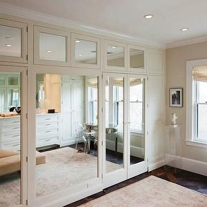 Floor to ceiling mirror closet doors