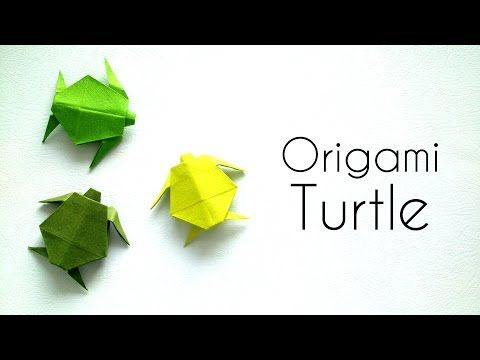 Origami: Turtle (Traditional) - Instructions in English (BR) - YouTube | 360x480