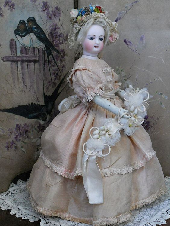~~~ Superb and Rare French Bisque Mechanical Waltzing Lady by Jules from whendreamscometrue on Ruby Lane