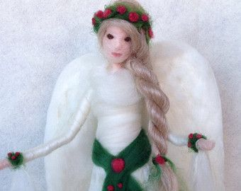This listing is for a CUSTOM Waldorf angel. You may choose color of hair and hairstyle. You may also opt for variations in the dress and choose