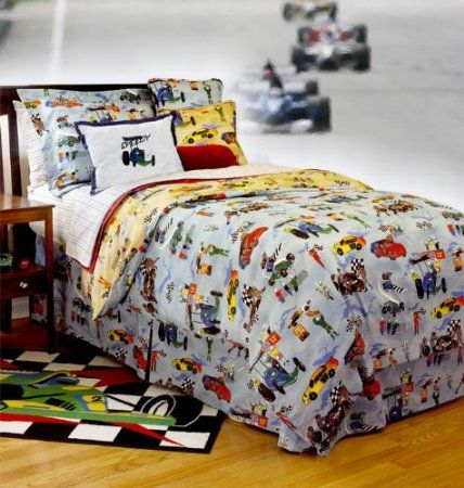 Amazon com  Race Car Bedding by The Sticklers   Queen   Full Comforter with. Amazon com  Race Car Bedding by The Sticklers   Queen   Full