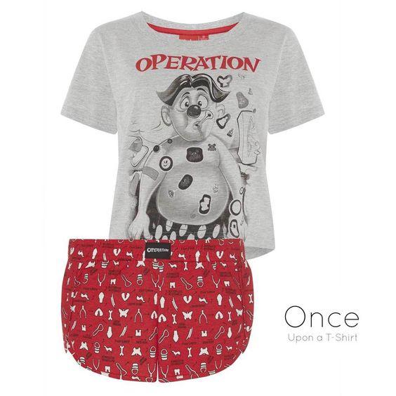 PRIMARK Ladies OPERATION BOARD GAME Pyjamas Shorts & Cropped T Shirt SET #Primark #PyjamaSets #Everyday