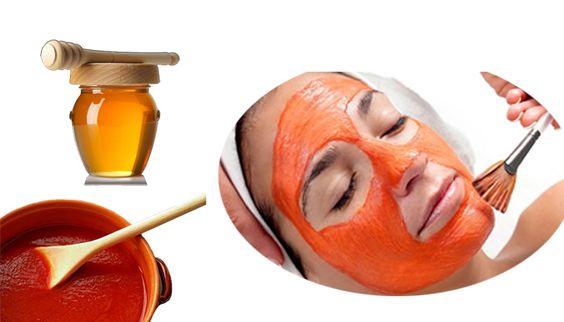 Hỗn hợp cà chua với mật ong giúp tẩy lông mặt để da mịn màng hơn