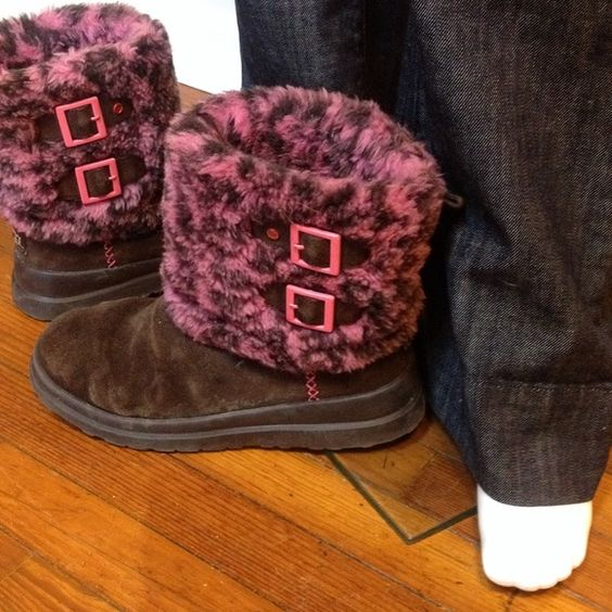 UGG Australia authentic boots size 9 EUC UGG Australia authentic boots size 9 EUC treated with waterproof UGG spray cute boots I heart UGG special edition picture of authentic tag inside boot UGG Shoes
