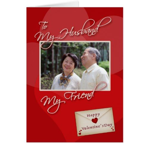 Valentine S Day My Husband Photo Card Template Zazzle Com Photo Card Template Photo Cards Holiday Design Card