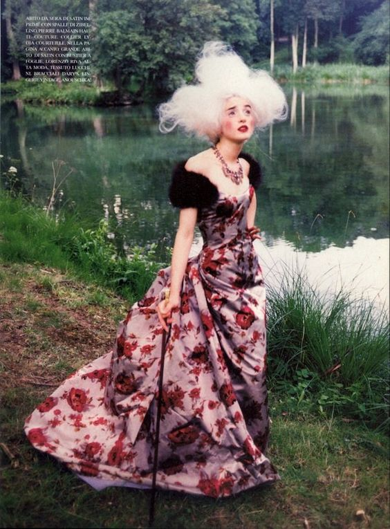 """""""At That Time"""": Michele Hicks & Esther Cañadas are Marie Antoinettte-esque in Couture by Ellen von Unwerth for Vogue Italia Couture Suppleme..."""