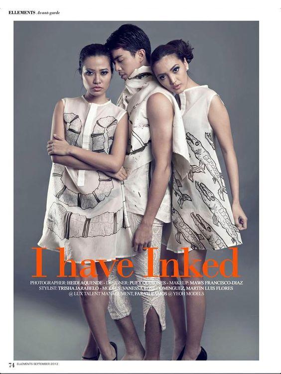 Tear sheet for Ellements Magazine, Sept 2013 Avant Garde Issue