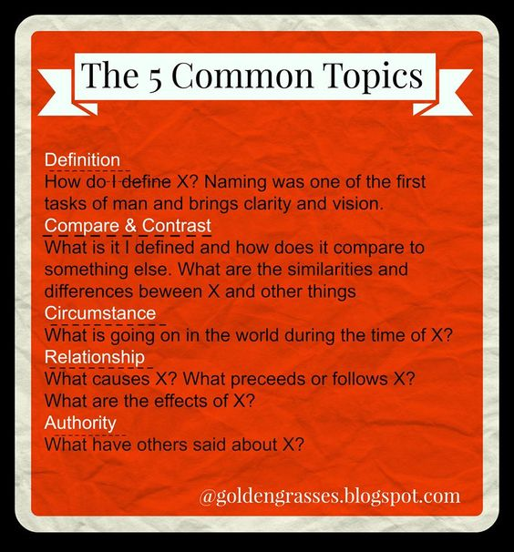 Golden Grasses: What's the Big Deal about the 5 Common Topics?: