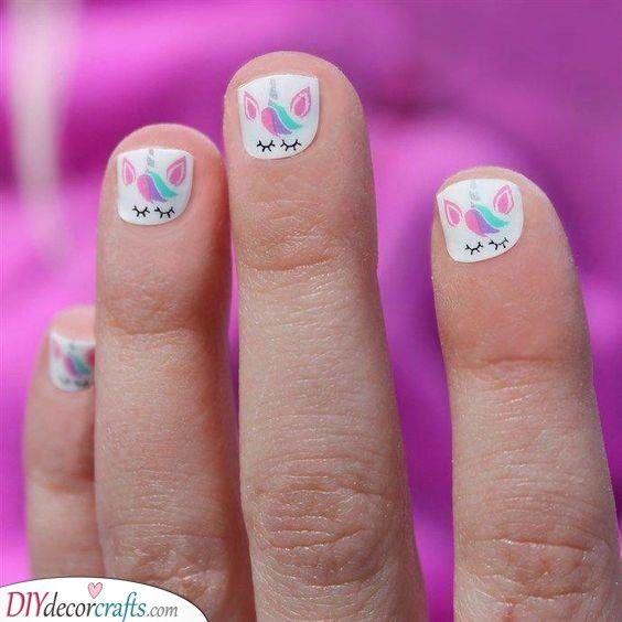 Unicorn Nails Little Girl Nails Gel Polish Designs Kyrasbeautykorner Little Girl Nails Girls Nails Girls Nail Designs