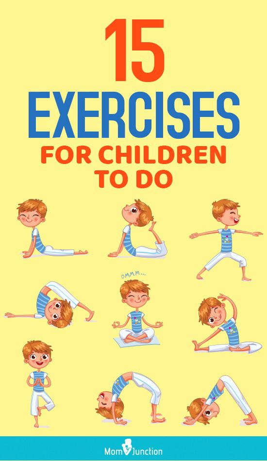 15 Simple Exercises For Kids To Do At Home In 2020 Exercise For Kids Yoga For Kids Easy Workouts