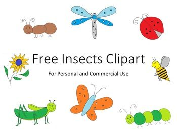 Insects Clip Art...Spring Insects Clipart
