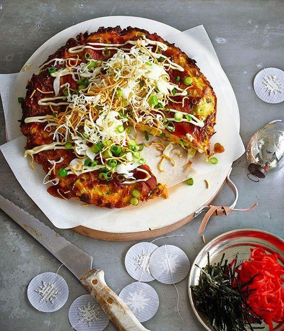 Okonomiyaki Recipe (Japanese Pancakes) | global recipe swap