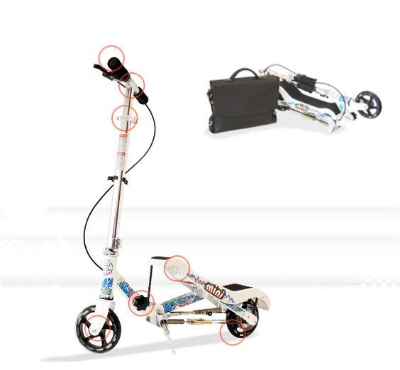 Pump powered kids scooter