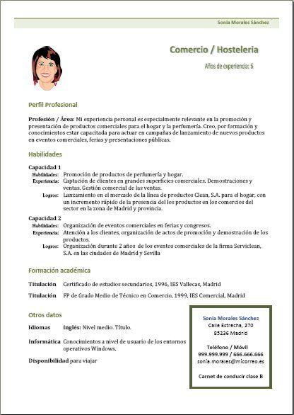 Ejemplo Curriculum Funcional Ejemplos De Curriculum Vitae