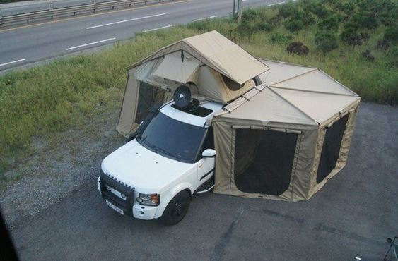 Foxwing Awning And Full Enclosure On M416 Expedition