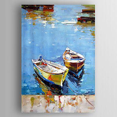 Peint la main paysage paysages abstraitsmodern un panneau toile peinture - Peinture huile abstraite ...