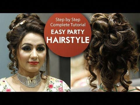 Easy Party Hairstyle Tutorial Step By Step Bridal Hair Tutorial Video Krushhh By Konica Yout Easy Party Hairstyles Hair Videos Tutorials Party Hairstyles