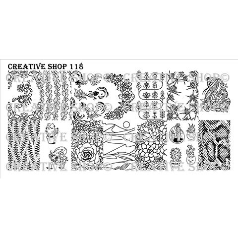 Creative Shop- Stamping Plate- 118