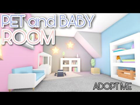 PET And BABY Room 👶🐶| Adopt Me - Speed Build - YouTube | Cute Room Ideas, Baby Room Neutral, Baby Room